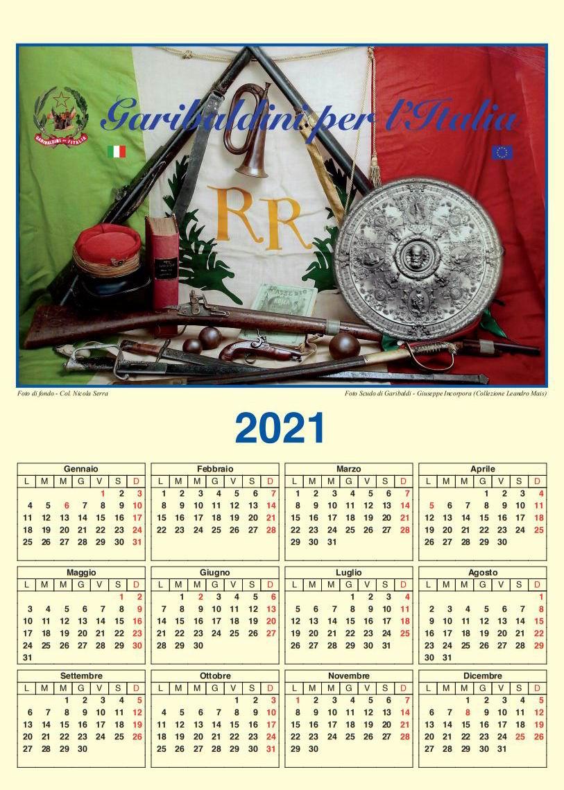 Olio Rinaldi Calendario 2021 Repubblica Romana